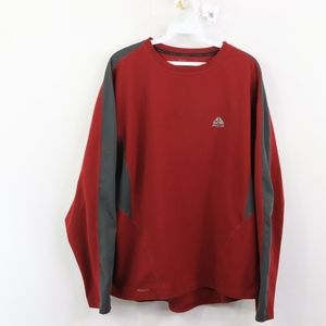 Nike ACG Mens XL Spell Out Long Sleeve Shirt Red